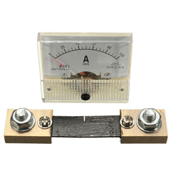 DC 100A Analog Ammeter Panel AMP Current Meter 85C1 Gauge 0-100A DC with Shunt