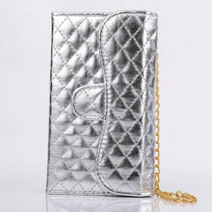 Long Pearl Chain Card Slot Wallet Case For Samsung Galaxy Note3 N9000