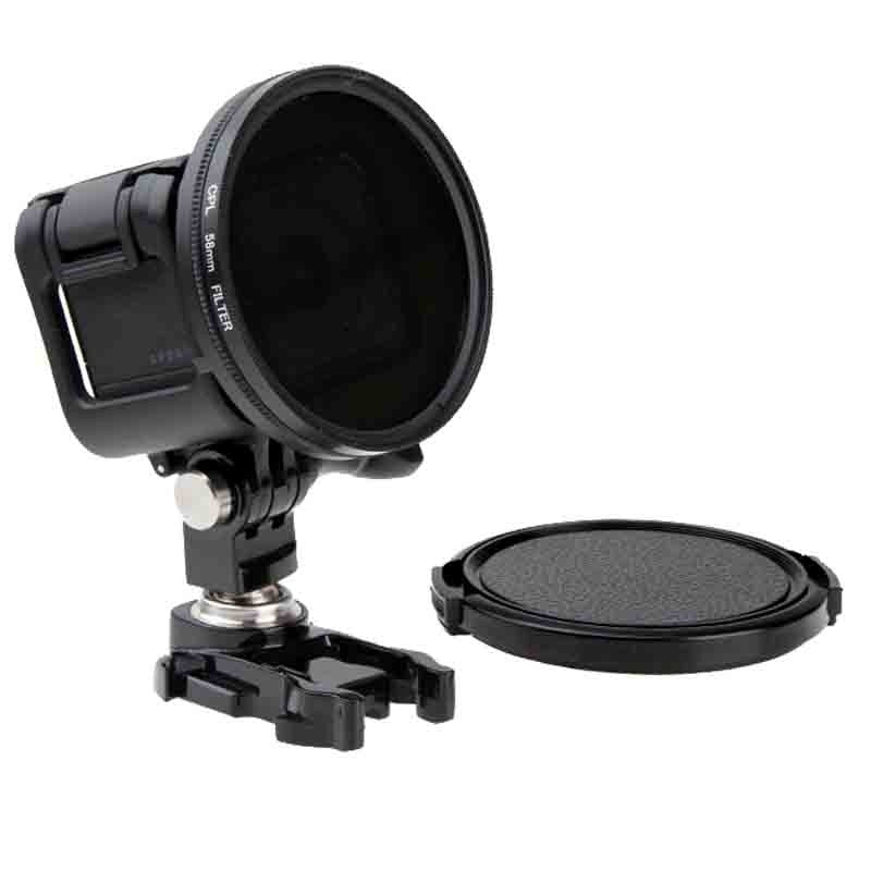 58mm Circular Polarizing CPL Filter Cap Lens for Canon Nikon Sony Olympus Gopro Hero 3 Action Camera