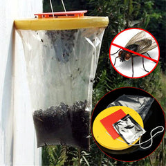 Red Drosophila Fly Trap Outdoors Flies Pest Killer Catcher Reusable Ultimate Insect Bug Catcher