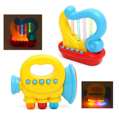Baby Infant Mini Magic Hand Trumpet Harp LED Music Educational Children Toys
