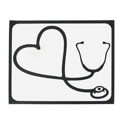 "Hat-Prince Stylish Heart-shaped Stethoscope Pattern Skin Decorative Sticker For MacBook 13.3"" 15.4"