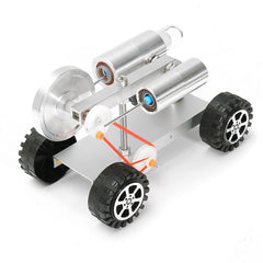 Mini Stirling Engine Motor Model Physical Experiment Educational Toy Car Kit