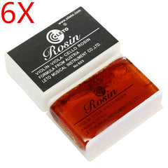 6PCS Light Bow Rosin Resin For Violin Viola Cello Strings Orchestral Accessories
