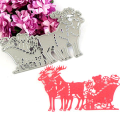 Christmas Xmas DIY Deer Cutting Dies Stencil Scrapbook Album Card Paper Embossing Decor