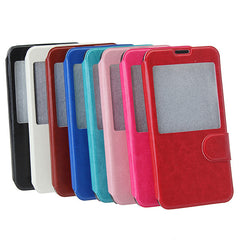 Flip-Open PU Leather Case With View Window For Samsung Galaxy S5