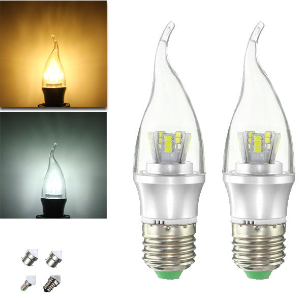 E27 E14 E12 B22 B15 6W 25 SMD 2835 LED Pure White Warm White Filament Light Lamp Bulb AC85-265V