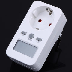 TS-860 High Quality Digtal LCD Display Energy Meter Socket Plug-in Electric Power Meter Energy Monitor EU Plug