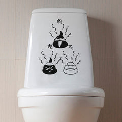 Creative Toilet Seat Stickers Bathroom Removable Waterproof Closestool Decor