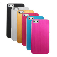 Fashion Brushed Aluminum Back Hard Case Cover For iPhone 5 5G