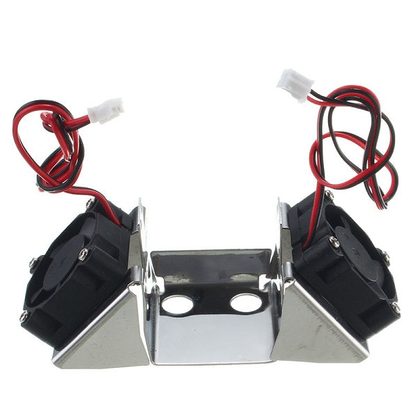 3D Printer Parts Stainless Steel Dual Fan Bracket With 3010 Fans