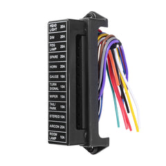 JZ5704 Jiazhan Car 12 Way Fuse Box 12 Road With Wire Modification Basic Block Auto Fuse Holder