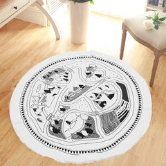 95cm Baby Carpet Child Room Road Grove Playing Game Rug Mat Blanket Gift Home Decor