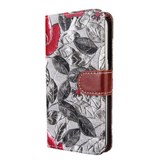 Flower Pattern Cloth Wallet Case Cover For Samsung GALAXY S6 edge