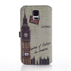 Big Ben Clock Pattern PU Leather Case For Samsung GALAXY S5 I9600