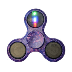 ECUBEE Hand Spinner ABS LED Camouflage Purple Fidget Spinner Finger Focus Reduce Stress Gadget
