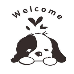 Cute Dog Waterproof Toilet Sticker Bathroom Wall Sticker Decor