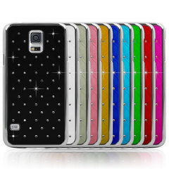 Crystal-inlaid PC Back Protective Case For Samsung Galaxy S5 i9600