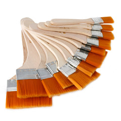KCASA 12Pcs/Set Nylon Oil Painting Watercolor Gouache Paint Barbecue Brush Home Wall Decor Tool
