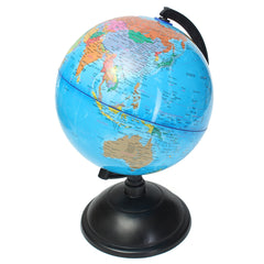 20cm Blue Ocean World Globe Map With Swivel Stand Geography Educational Toy Gift
