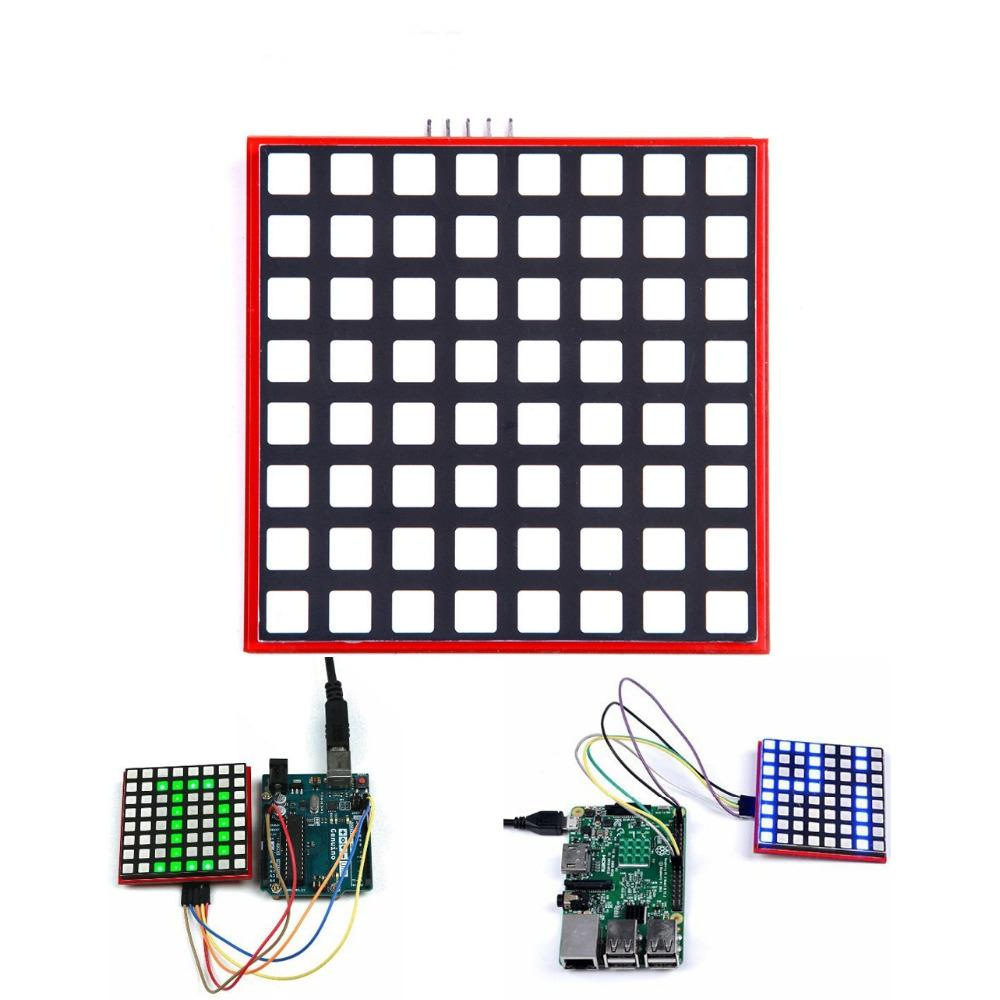 Rainbowduino Hoofd Controle Led Matrix Drive Board Voor Arduino Wit Prototype Paper Copper Pcb Universal Experiment Circuit Full Color 8x8 Rgb Dot Screen Module For Raspberry Pi 3 2