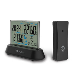 Digoo DG-TH1001 Wireless Transparent Screen In&Outdoor Hygrometer Thermometer Indicator Sensor Clock