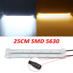 25cm 5W 900lm 18 SMD 5630 Waterproof IP44 LED Rigid Strip Cabinet Light 12V With DC Connector