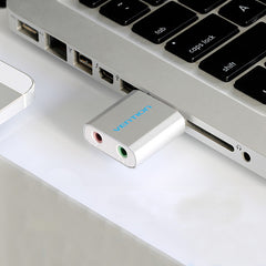 VENTION VAB-S10 Dual Port USB to 3.5mm Sound Card Earphone Adapter for Computer Headphone Speaker