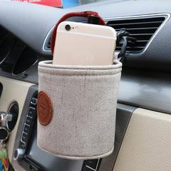 Universal Car Air Vent Phone Bag Phone Vent Stand Holder Digital Product Organizer Storage Bag