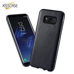 KISSCASE Hybrid Soft TPU + PU Leather Ultra-thin Cover Case for Samsung Galaxy S8 Plus