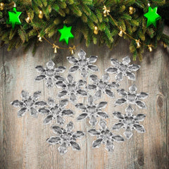 12Pcs Snowflakes Ornaments Gift Party Christmas Tree Hanging Decoration