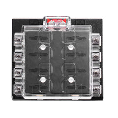 JZ5503 Jiazhan Car 8 Way Air Condition Fuse Box 8 Road Auto Circuit Protect Fuse Block Holder Clear