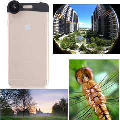 3 in 1 Fish Eye Wide Angle Micro Zoom Camera Lens Kits For iPhone 6 Plus