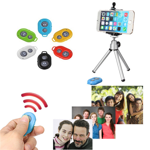 Universal Bluetooth Selfie Remote Shutter With Tripod Holder Monopod