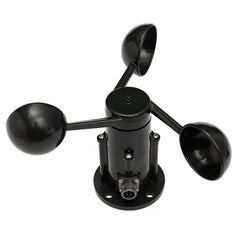 Wind Speed Sensor Anemometer Three Cups Aluminium Current Voltage Output 0-5V