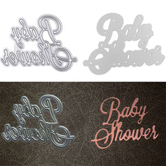 DIY Baby Shower Cutting Dies Stencil Scrapbooking Album Card Embossing Craft