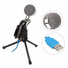 USB Professional Condenser Microphone Mic with Shock Mount