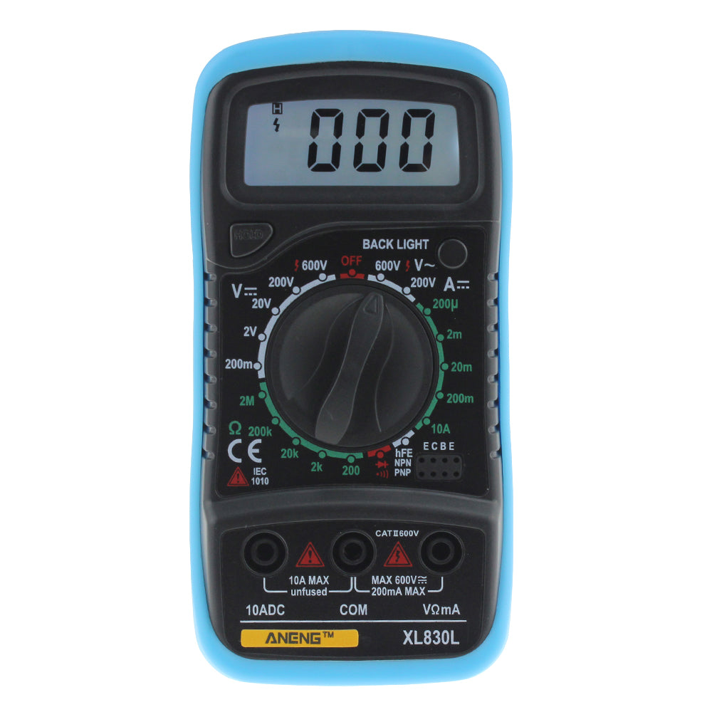Proskit Mt2017 Acdc Lcd Protective Function Analog Multimeter Dt830d Digital Circuit Diagram Aneng Xl830l Current Voltage Resistance Transistor Temperature Tester
