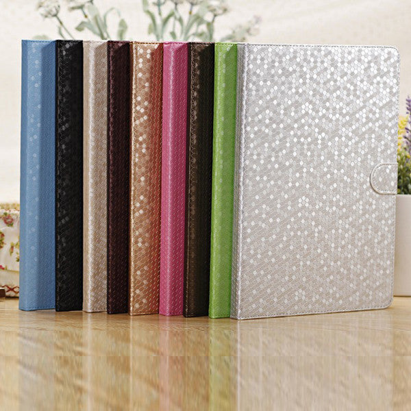 Fashion Diamond Grain Smart PU Leather Stand Case Cover For iPad Air