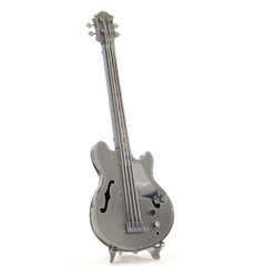Aipin DIY 3D Puzzle Stainless Steel Model Kit Bass Guitar Silver Color