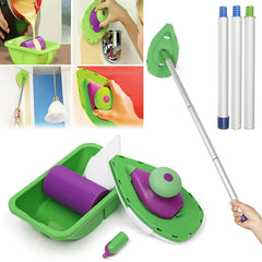 1 Sets of Sponge Brush 3PCS Sticks Paint Roller and Tray Home Decor Painting Brush Decorative Tool