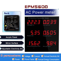 EPM5600 Digital Single Phase AC Panel Power Meter Watt Meter Energy Meter 10A/ 220V/110V/2000W