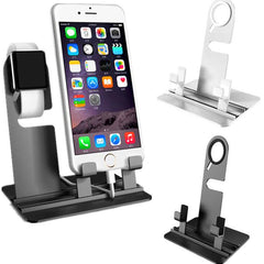Aluminium Charging Dock Station Stand Holder For Apple Watch iPhone 6s Plus 6 Plus