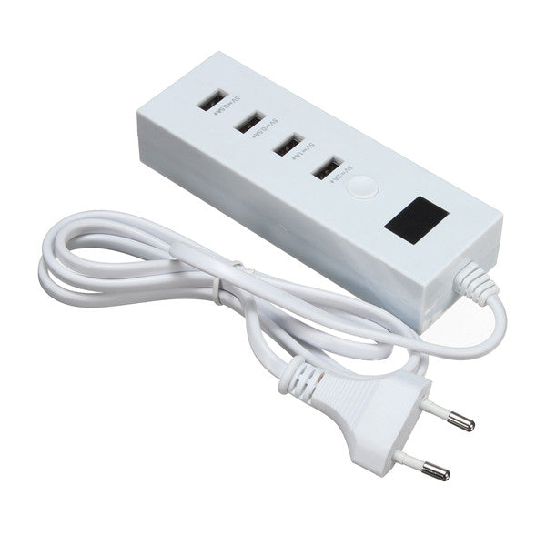 4 Port USB LED Wall Charger Power Adapter EU Plug For iPhone 6s-7 Samsung Tablet