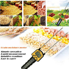 SMARTSENSOR AR991 Digital Grain Moisture Meter for Corn Wheat Rice Bean Wheat Flour Fodder Rapeseed