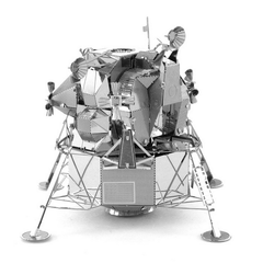 Aipin DIY 3D Puzzle Stainless Steel Kit Model Lunar Module Silver Color