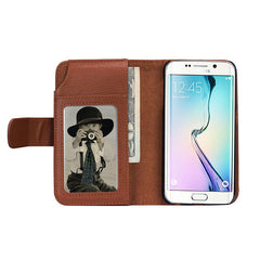 Wallet Card Slots Multi-functions Leather Case For Samsung Galaxy S6 Edge