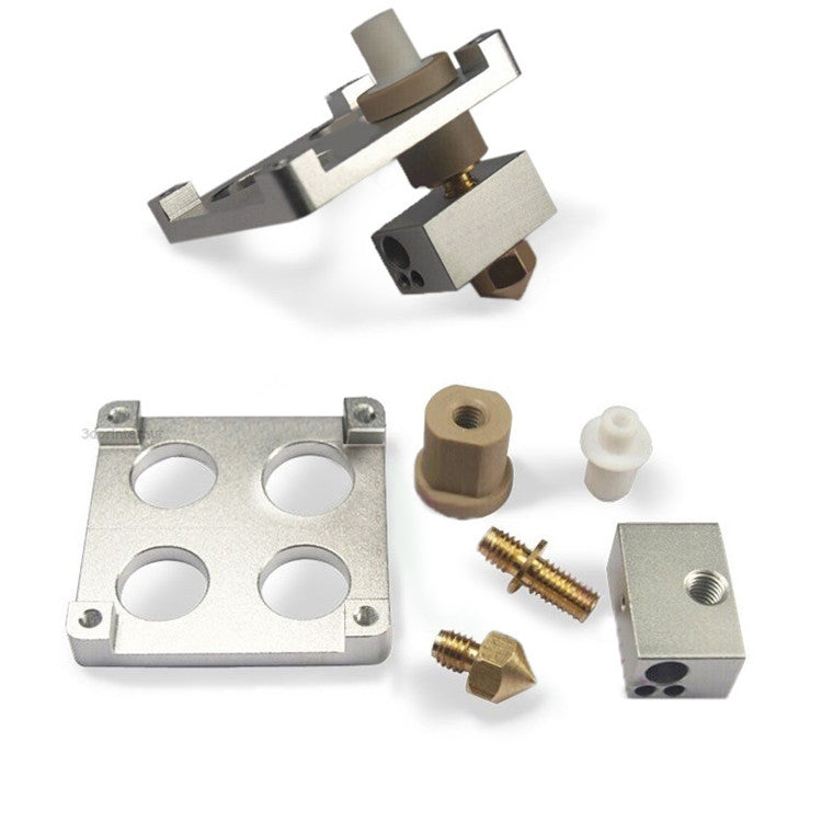 1.75mm-3mm PEEK Isolator Aluminum + Heater Block Extruder Set For 3D Printer