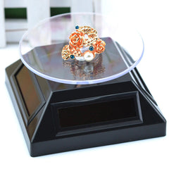 Solar Showcase 360° Turntable Rotation Display Stand For Displaying Jewelry Watch Ring Phone