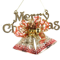 Golden Red Pierced Letters Brand Christmas Decoration Supplies